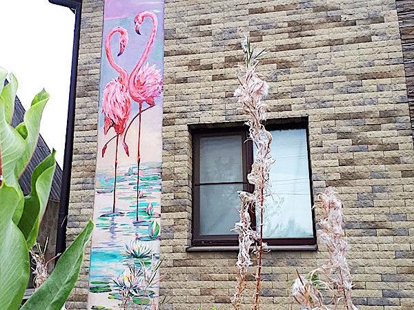 Роспись уличной стены загородного дома