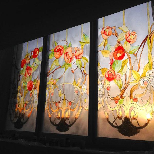 Рисунок на стекле - художник