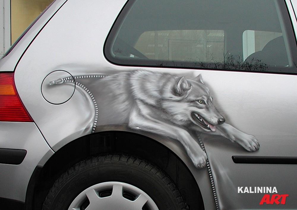 Аэрография VW - волк