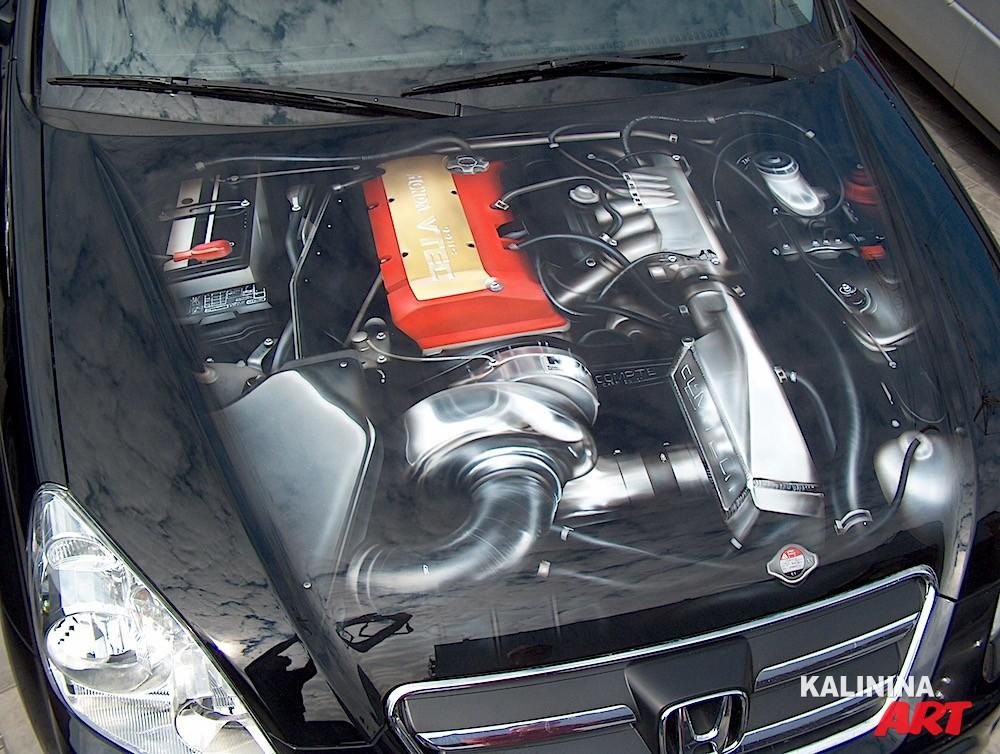 Аэрография внутренностей двигателя