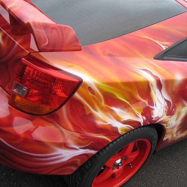 Аэрография на Toyota Celica