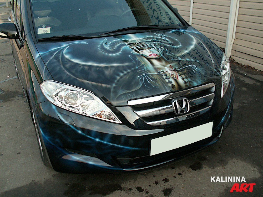 Аэрография на автомобиле Honda