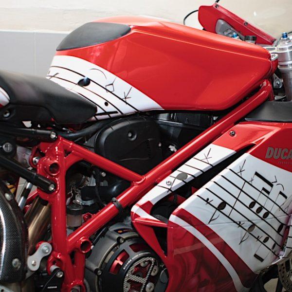 Аэрография мотоцикл Ducati
