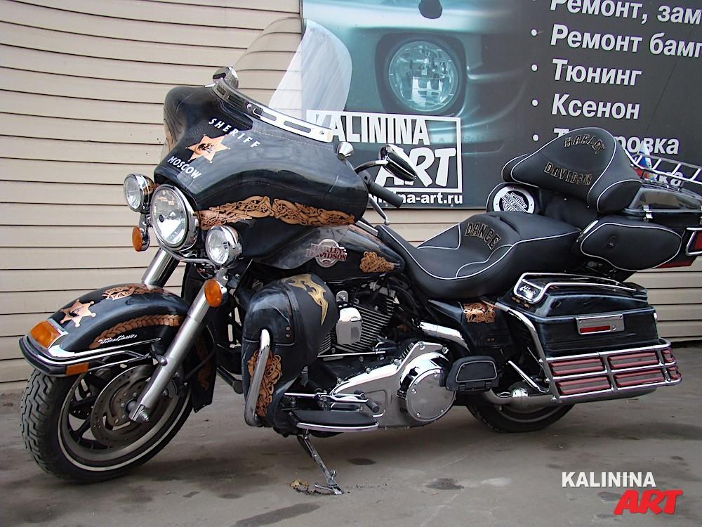 Аэрография на мотоцикле Harley Davidson