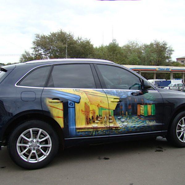 Аэрография на джипе Audi - картина