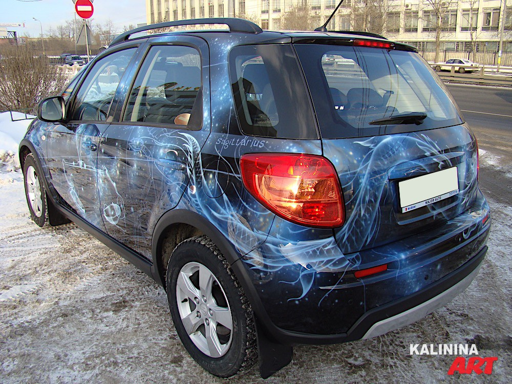 Аэрография на автомобиле Suzuki