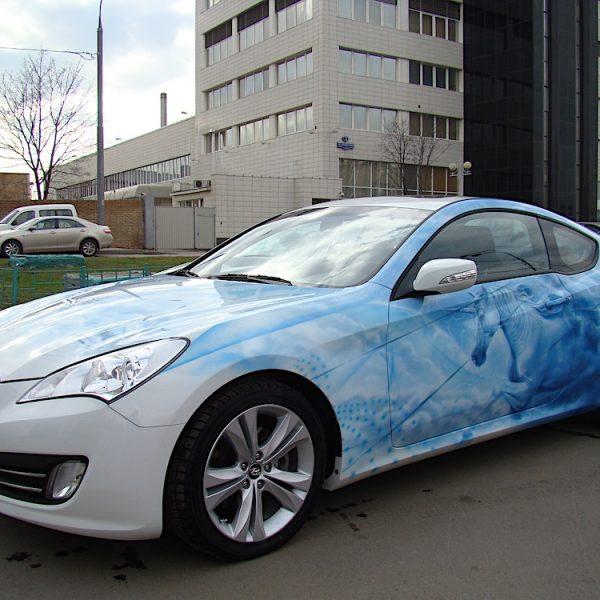 Аэрография Hyundai Genesis - единорог
