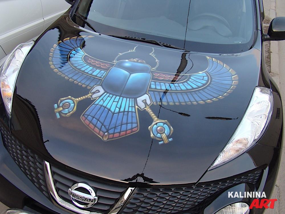 Аэрография капота Nissan Juke