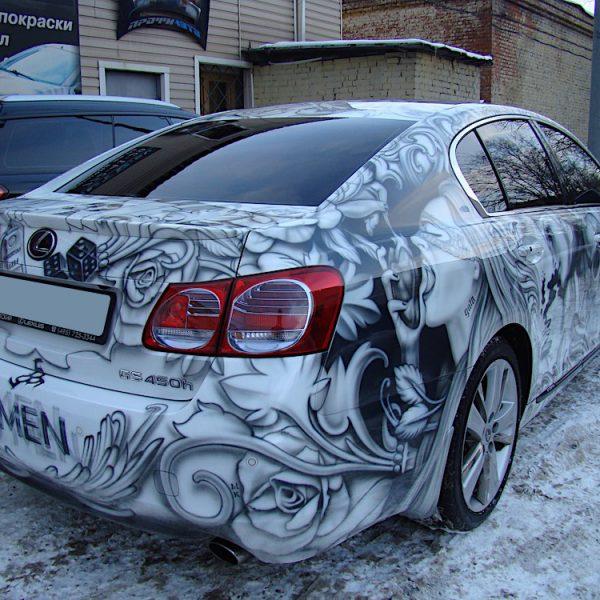 Роспись Lexus