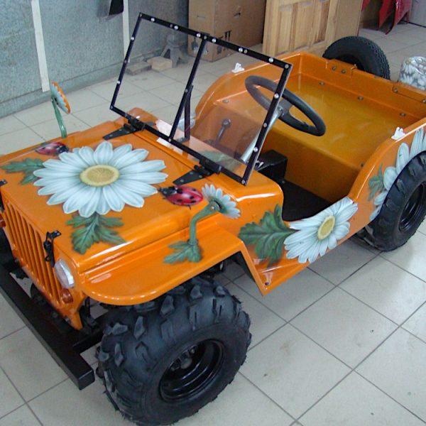 Роспись детских автомобилей
