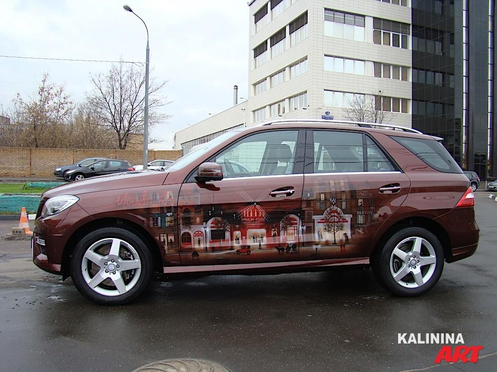 Роспись джипа Mercedes