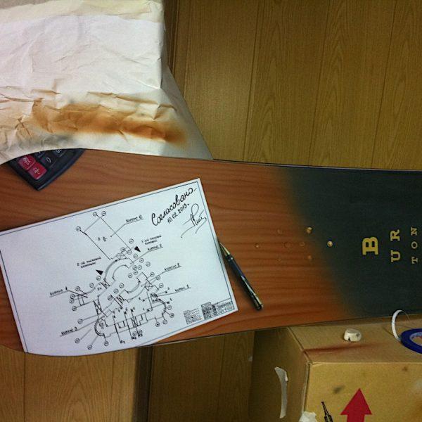 Нанесение рисунка на сноуборд