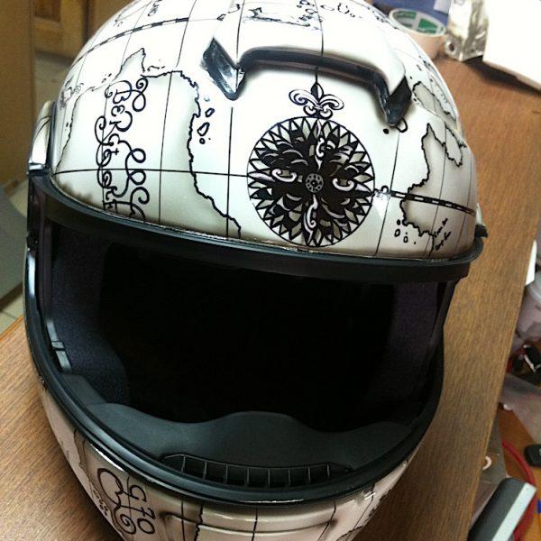Аэрография мотоциклетного шлема