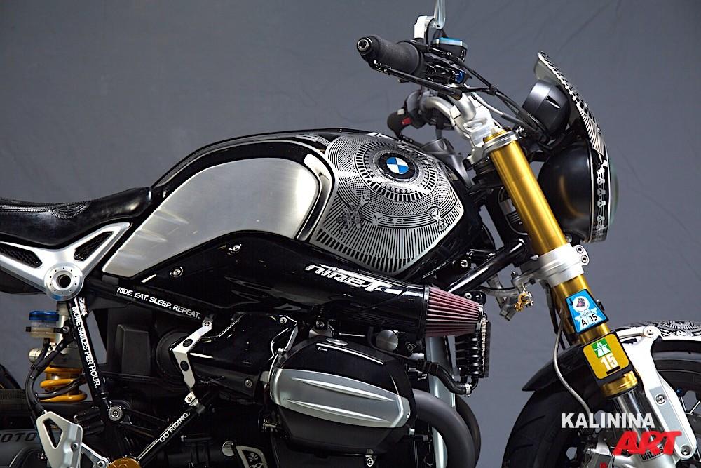 Аэрография мотоцикла BMW