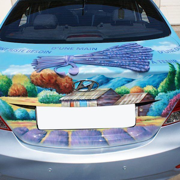 Роспись автомобиля Hyundai - пейзажи Франции