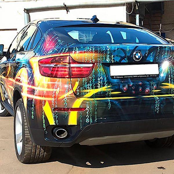 Аэрография на джипе BMW