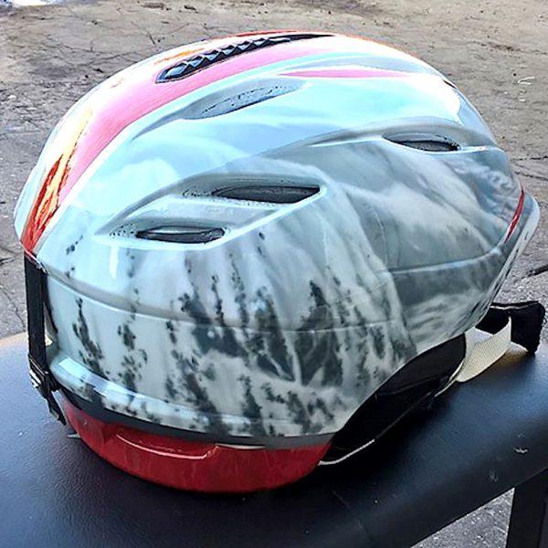 Фото аэрографии на шлеме