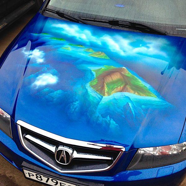 Аэрография автомобиля Acura
