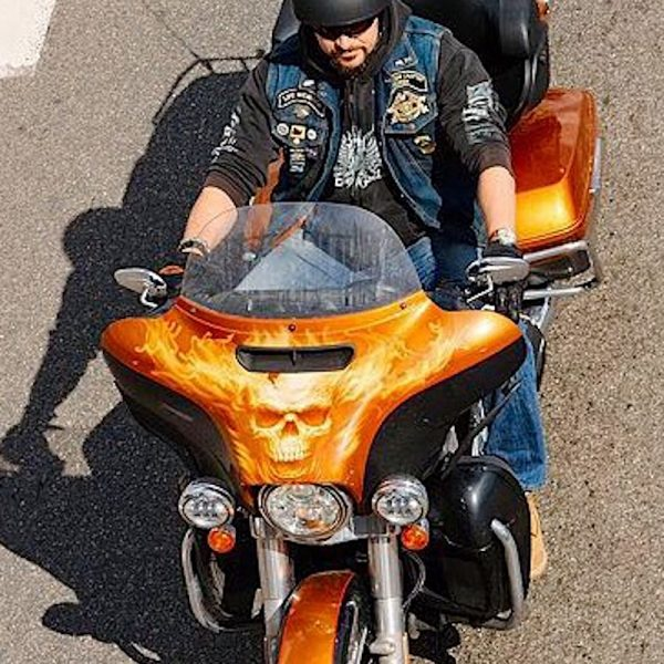 Аэрография детали мотоцикла