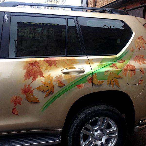 Аэрография джипа Toyota